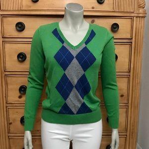 Women's IZOD Argyle Sweater Petite L, fits P Med